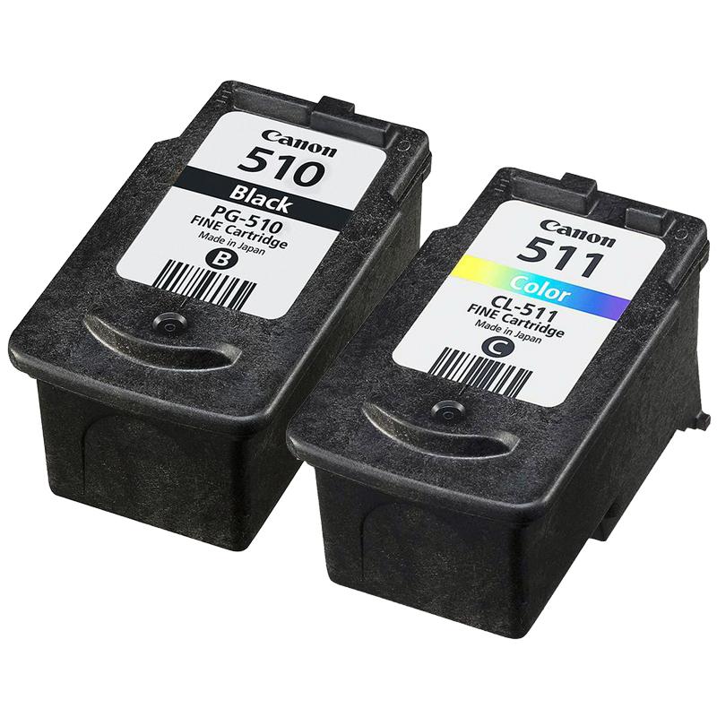 2970B010AA - Original Canon PG510 Black & CL511 Tri-Colour Ink Cartridges