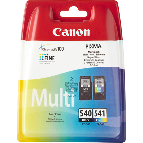 Original Canon PG540 Black & CL541 Colour Ink Cartridges