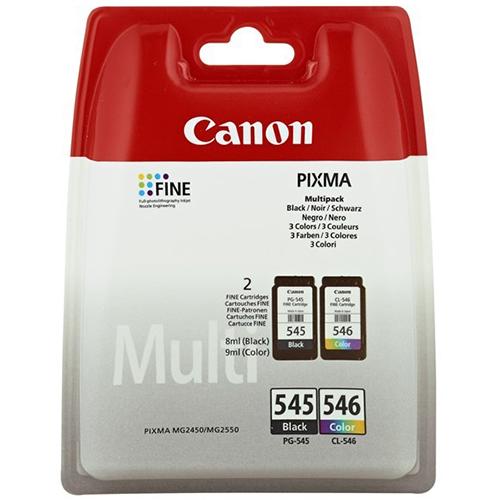 Original Canon PG545 Black & CL546 Colour Ink Cartridges