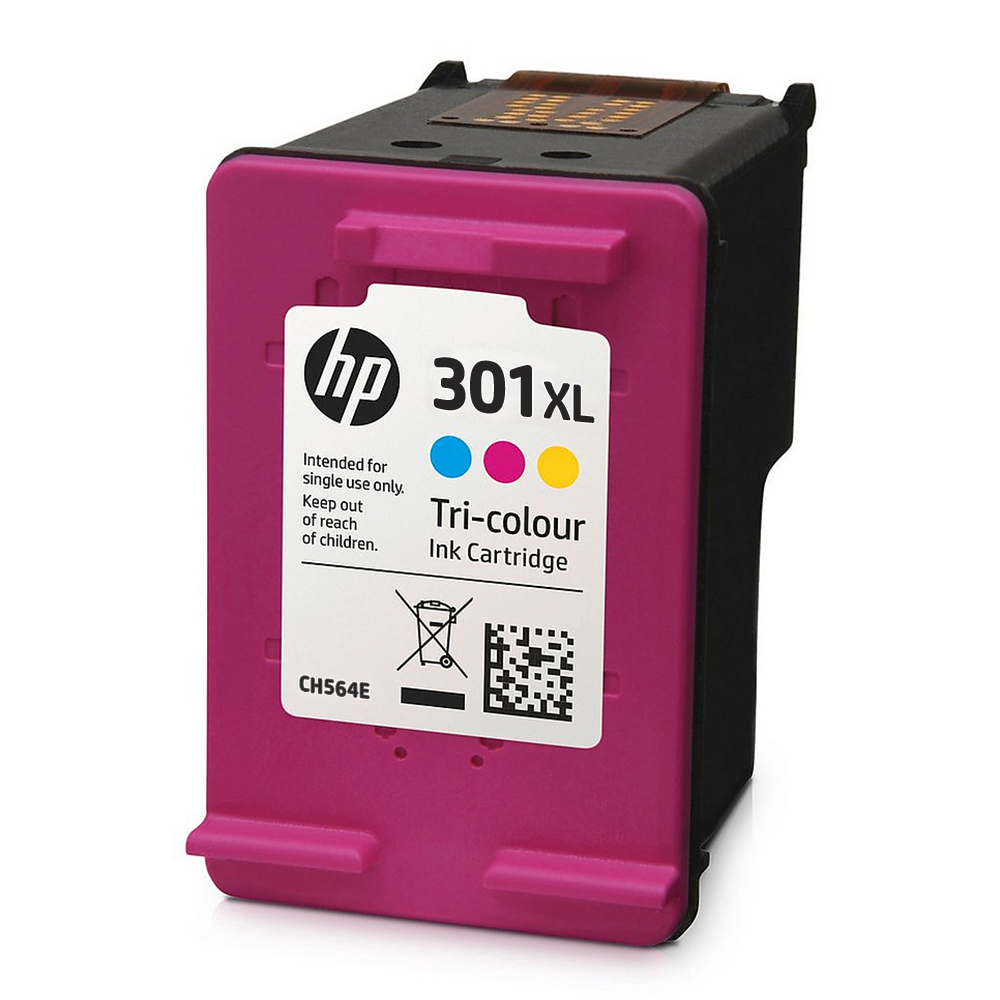 CH564E_NP - Original HP 301XL High Capacity Tri-Colour Ink Cartridge