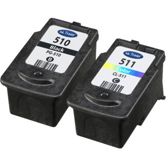 Remanufactured Canon PG510 Black & CL511 Tri-Colour Ink Cartridges