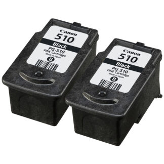 Canon-PG510-x2-Orig - 2x Original Canon PG510 Black Ink Cartridges