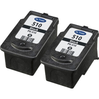 2x Remanufactured Canon PG510 Black Ink Cartridges