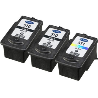 2x PG510 & 1x CL511 Remanufactured Canon Ink Cartridges