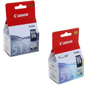 Canon PG512 Black & CL513 High Capacity Colour Ink Cartridges