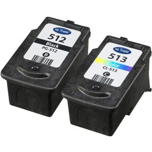 Remanufactured Canon PG512 Black & CL513 Tri-Colour Ink Cartridges