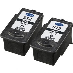 2x Remanufactured High Capacity Canon PG512 Black Ink Cartridges
