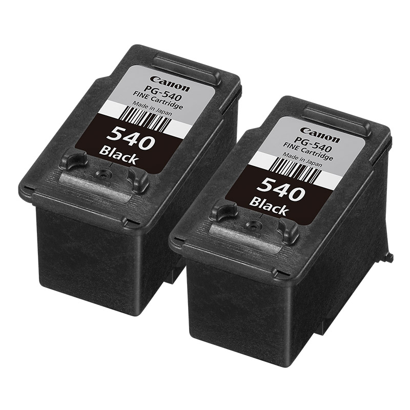 2x Original Canon PG540 Black Ink Cartridges