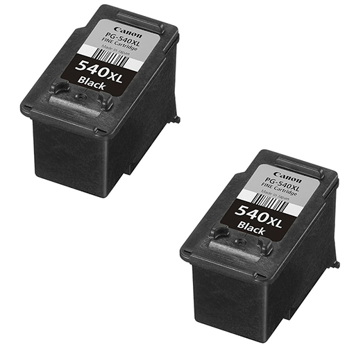 2x Original Canon PG540XL Black High Capacity Ink Cartridges