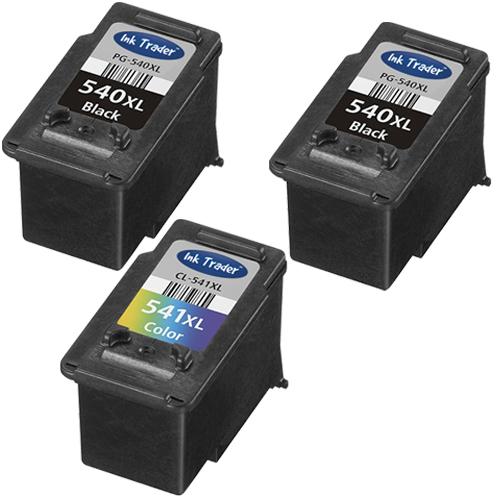 2x PG540XL & 1x CL541XL Remanufactured Canon Ink Cartridges