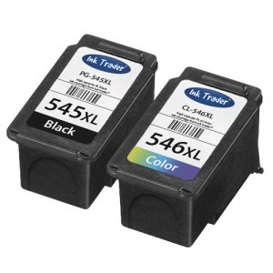 Remanufactured Canon PG545XL Black & CL546XL Colour High Capacity Ink Cartridges