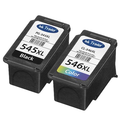Remanufactured Canon PG545XL Black & CL546XL Colour High Capacity Ink Cartridges