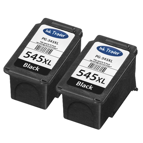 2x Remanufactured Canon PG545XL Black High Capacity Ink Cartridges