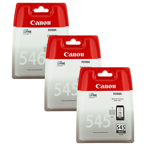 2x Original Canon PG545 Black & 1x CL546 Colour Ink Cartridges