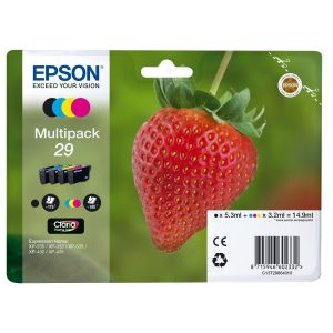 EPSON Strawberry T2986 Cyan, Magenta, Yellow & Black Ink Cartridges - Multipack