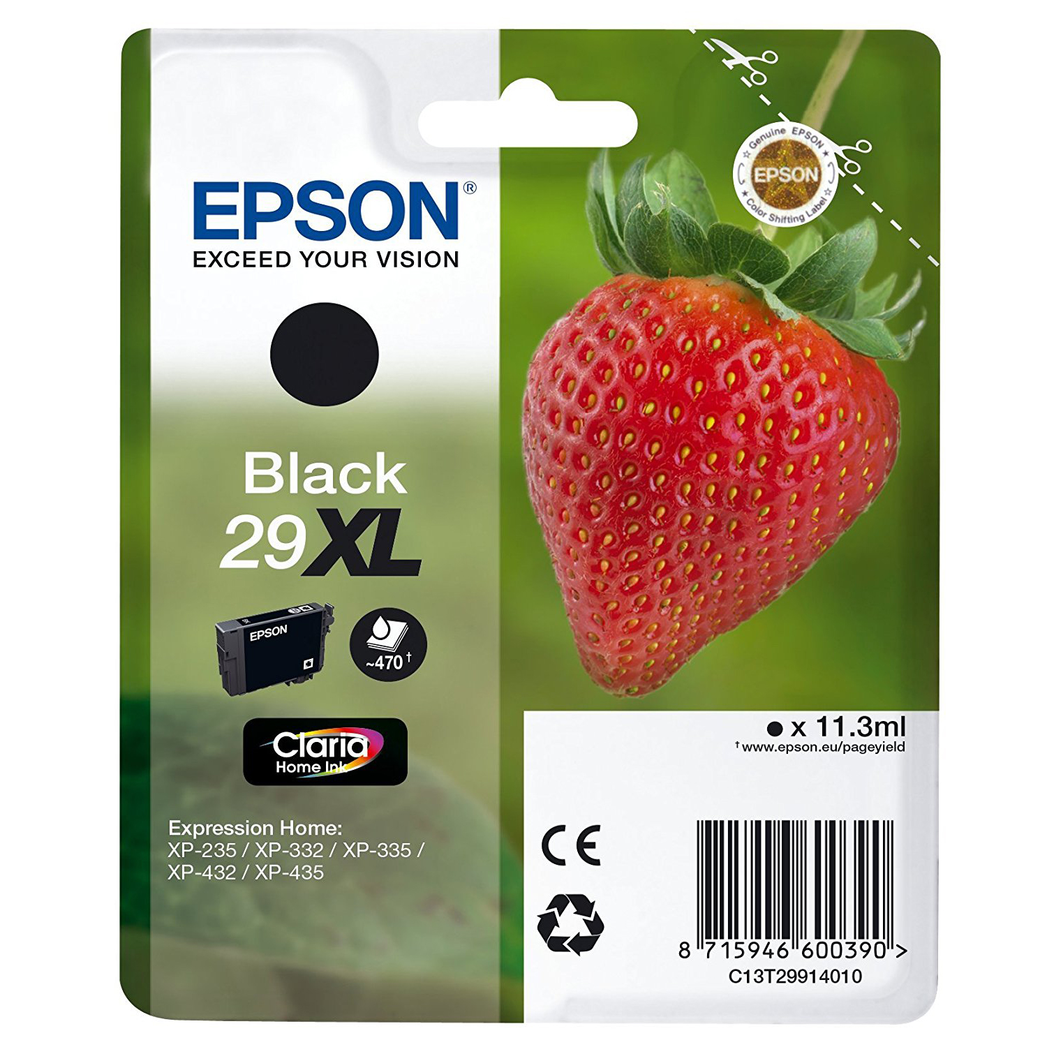 EPSON Strawberry T2991 XL High Capacity Black Ink Cartridge