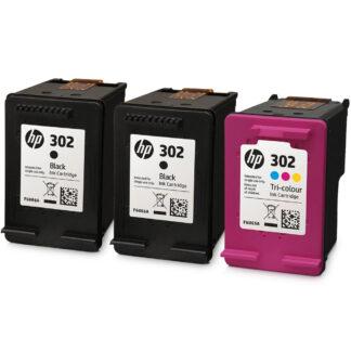 HP 302 2-pack Black//Tri-color Original Ink Cartridges