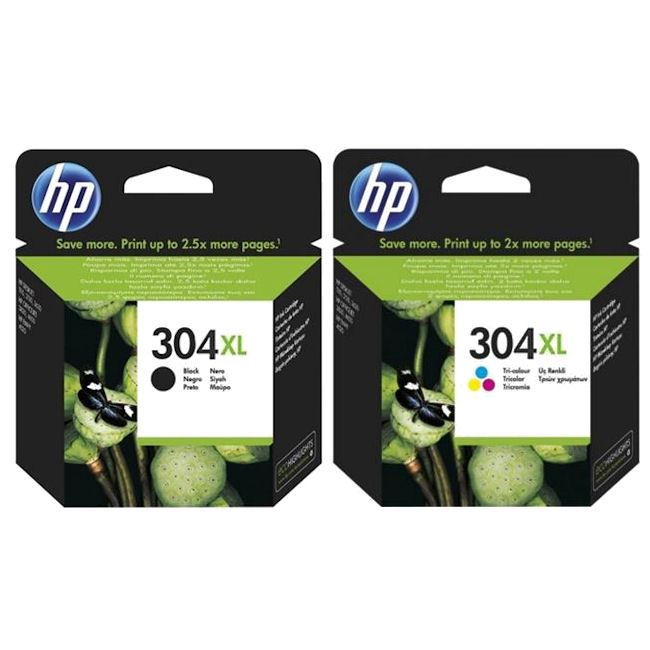 Original HP 304XL Black & Colour Ink Cartridge Multipack