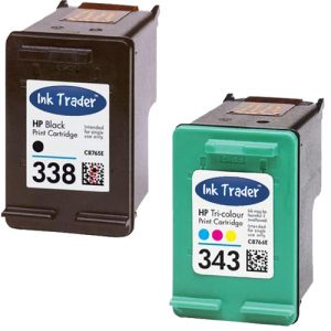 HP 338 343 Remanufactured Ink Cartridges