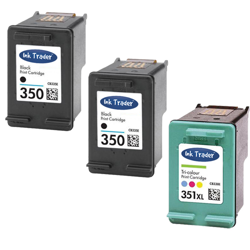 2x Remanufactured HP 350 & 1x 351XL Ink Cartridges