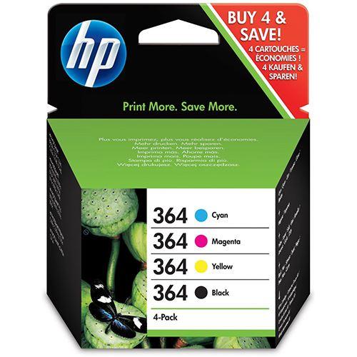 Original HP 364 Black, Cyan, Magenta & Yellow Ink Cartridge Multipack