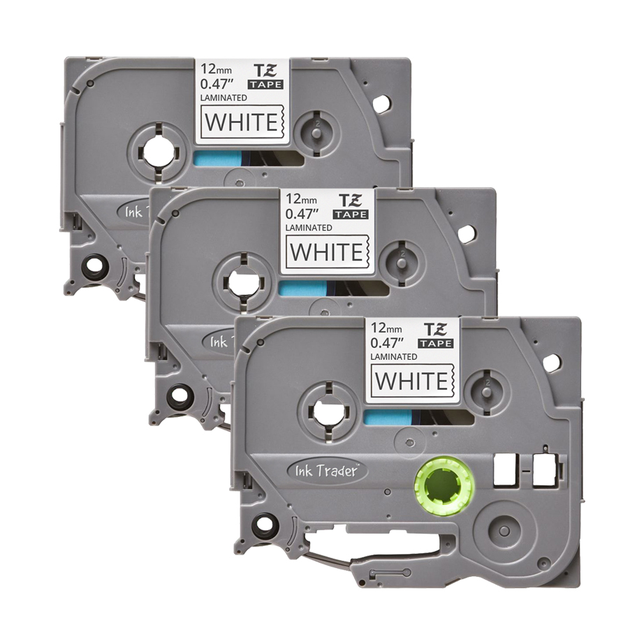 3x Brother P-Touch TZE-231 White Labels - Brother P-Touch TZE231