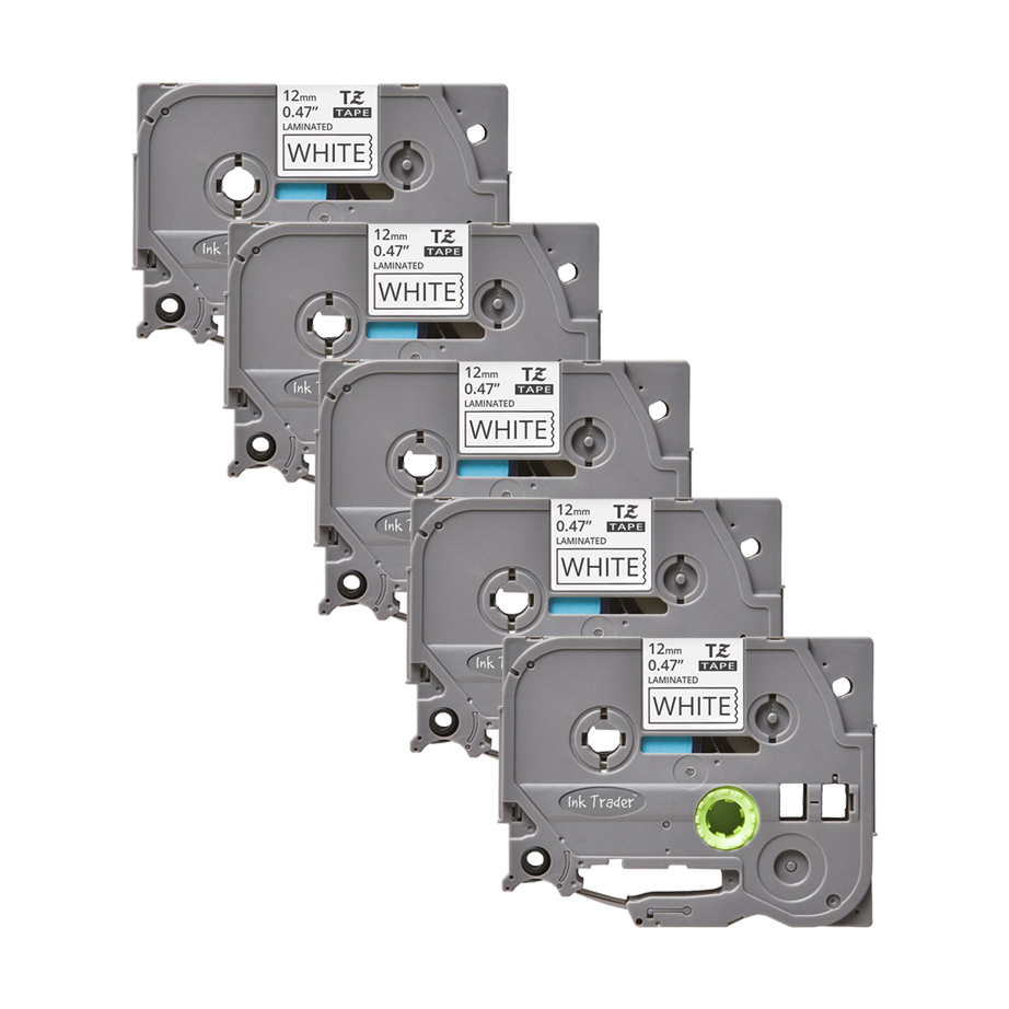5x Brother P-Touch TZE-231 White Labels - Brother P-Touch TZE231