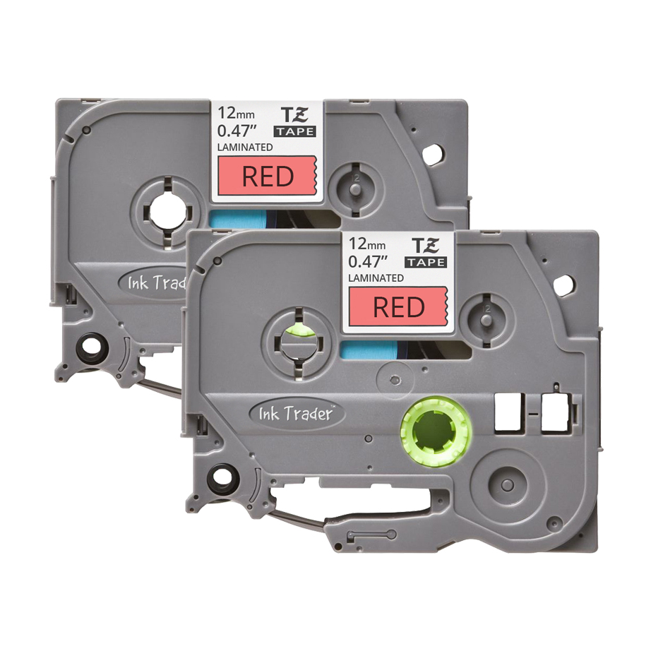 2x Brother P-Touch TZE-431 Red Labels - Brother P-Touch TZE431