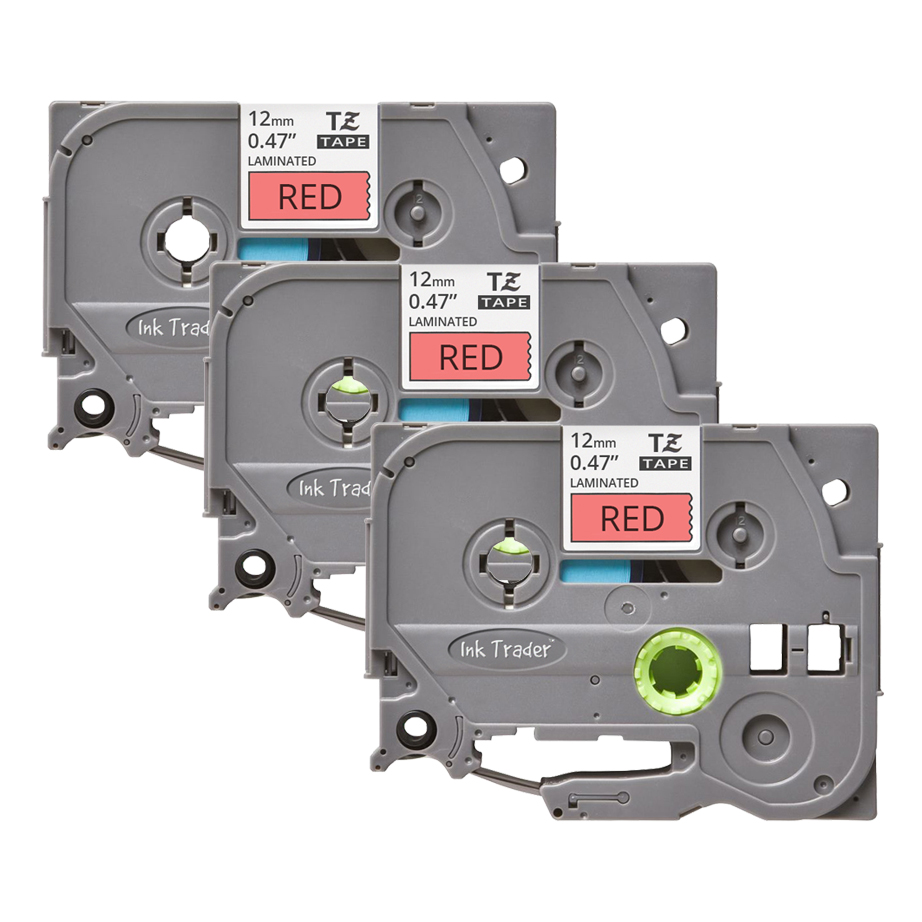 3x Brother P-Touch TZE-431 Red Labels - Brother P-Touch TZE431