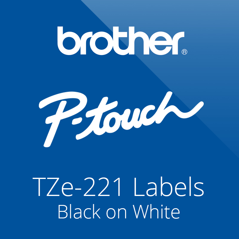 P-Touch Tze-221 Label Tapes