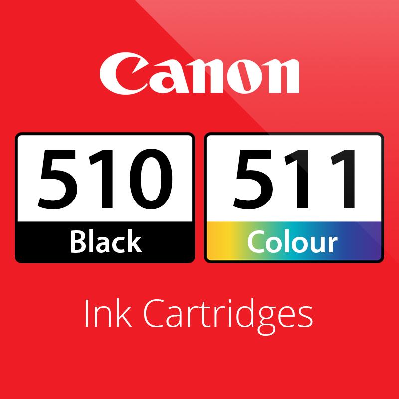 Canon PG510 & CL511 Ink Cartridges