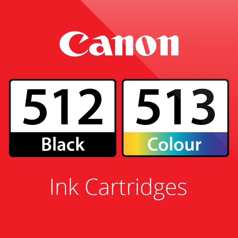 Canon PG512 & CL513 Ink Cartridges