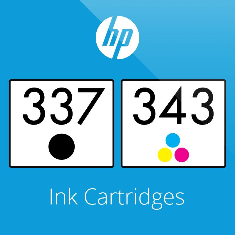 HP 337 & 343 Ink Cartridges
