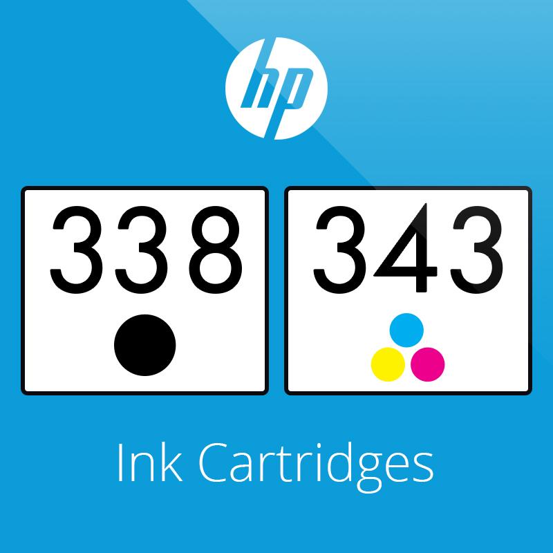 HP 338 & 343 Ink Cartridges