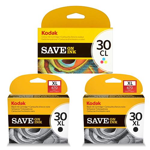 Kodak 30XL Ink Cartridges - Black Colour Original