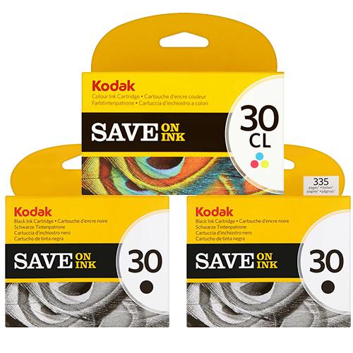 Kodak 30 Ink Cartridges - Black Colour Original